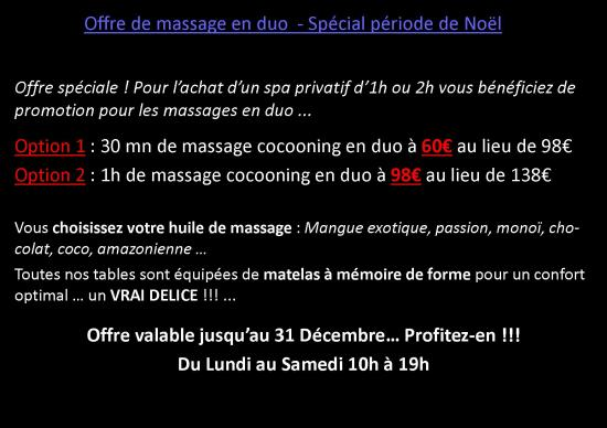 Massage en duo Ô Spa Danaé Lille