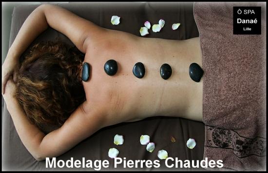 Massage pierres chaudes Ô Spa danaé lille