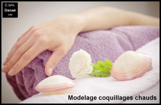 Massage aux coquillages chauds Ô Spa Danaé Lille