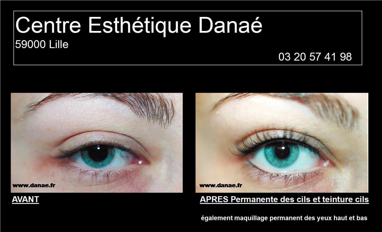 permanente cils teinture cils centre esthetique danae institut - Coloration Des Cils