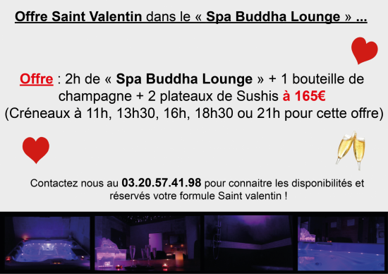 Saint valentin spa lounge
